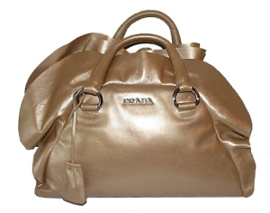 PRADA Beige ruffle purse