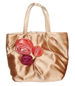 Prada Gold Satin Bag