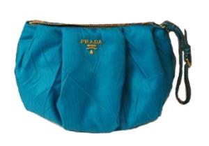 Turquoise prada purse