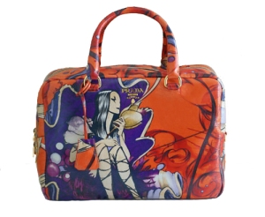 PRADA James Jean Fairy bag in ORANGE