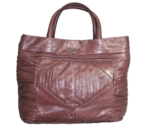 Prada Ruched Nappa leather Handbag