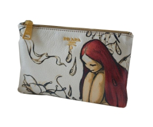 PRADA James Jean Cosmetic Pouch / Wallet