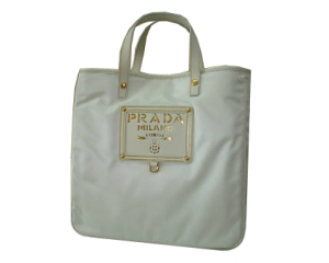 Prada white tote bag