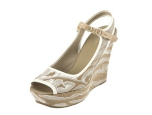 "Prada Calzature Donna ""Canapa painted"" wedge!"