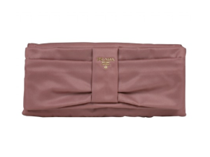 Prada Pink Nylong Bow Clutch