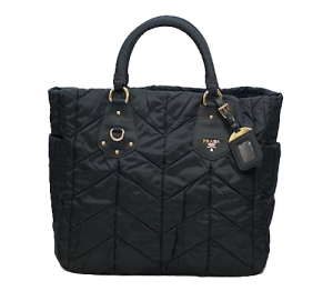Prada Black Quilted NylonTote Bag