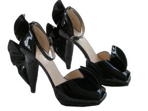 Prada ruffle heels
