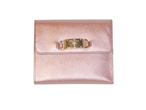 Metallic Pink Leather wallet from PRADA