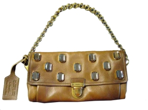 Prada jeweled camel leather purse