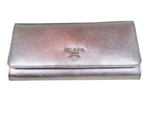 Prada silver wallet
