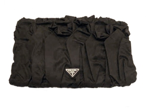 Prada black nylon clutch