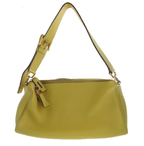 Prada yellow leather purse