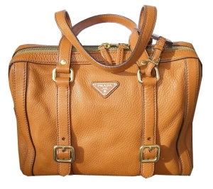 Prada Orange Leather doctor bag