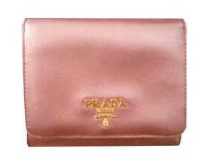 Prada Pink Metallic Wallet