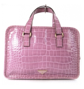 Prada Pink Crocodile Handbag