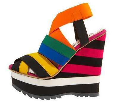 Plada striped wedge