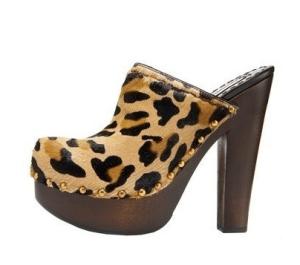 Prada leopard clog