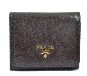 Brown Leathr Prada Wallet