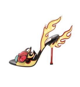 Prada flame heels