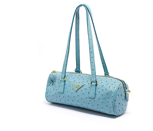 Sky blue Prada purse